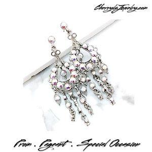 Jim Ball Jewelry - Mini AB Crystal Chandelier Event Earrings